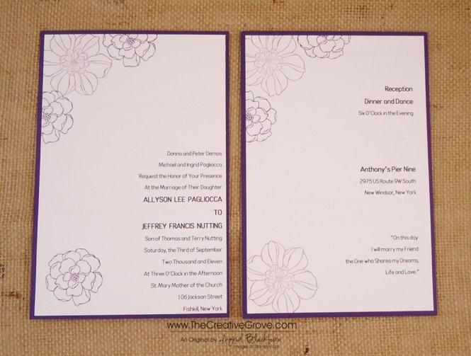 Secret Garden Diy Wedding Invitations