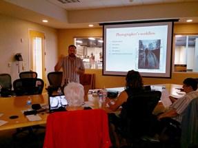 Tom Turner teaching the Spring Lightroom Lite class