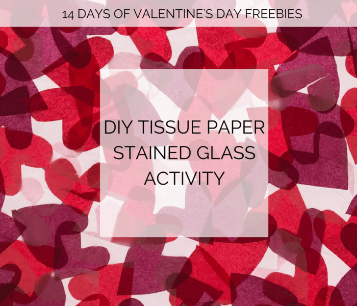 Tissue Paper Stained Glass Heart Activity