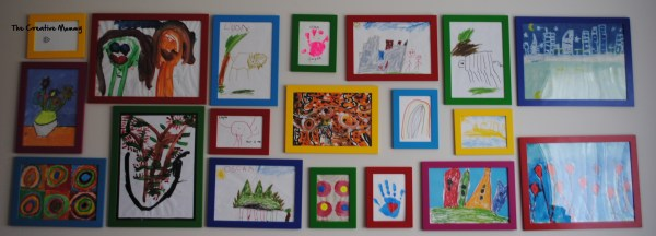 How to Display Kids Art Work