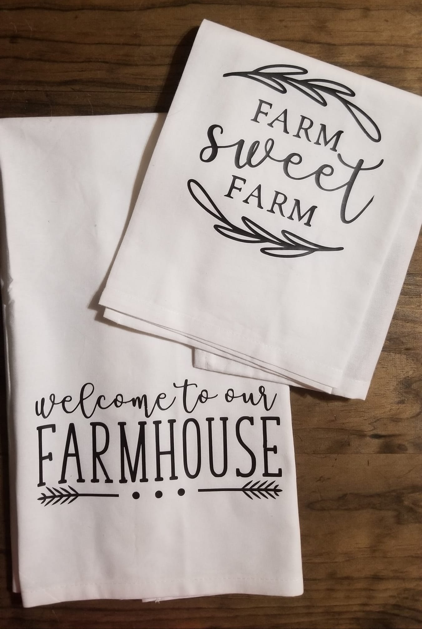 Flour Sack Kitchen Towels.Welcome To Our Farmhouse Farm Sweet Farm Floursack Kitchen Towels