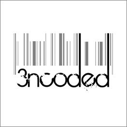 Logo - 3ncoded B&W