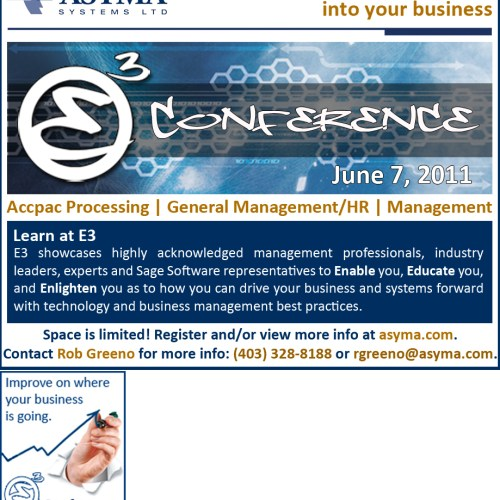 Asyma E3 Conference Advertising