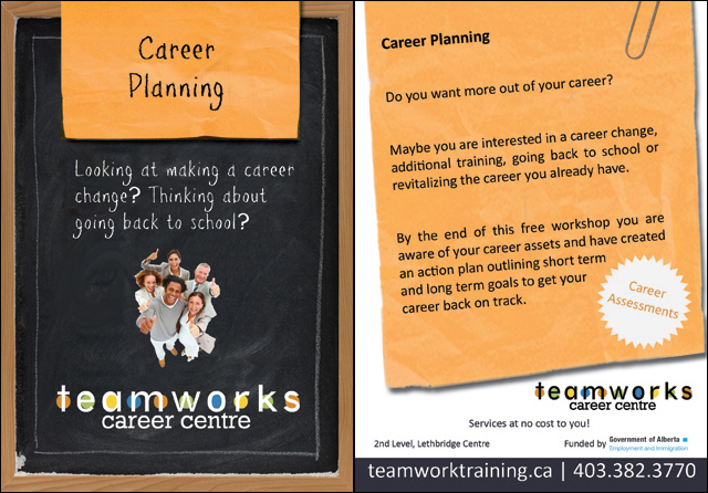 Teamworks Postcard - Career Planning (3 of 5) Front & Back