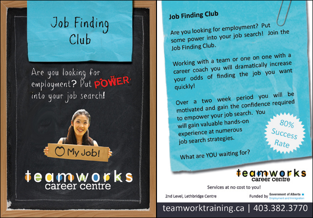 Teamworks Postcard - Job Finding Club (2 of 5) Front & Back