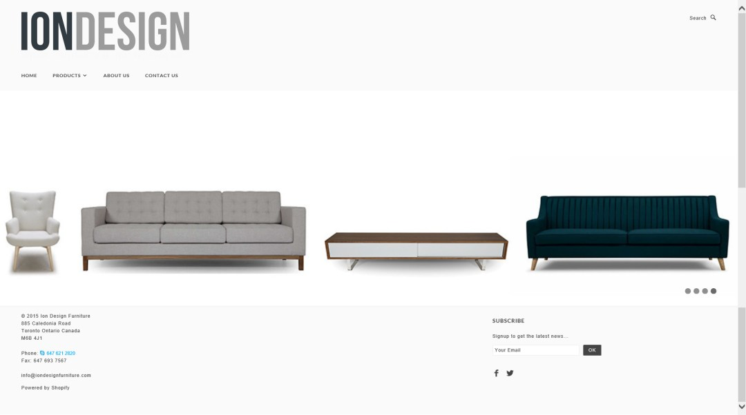 Website - ION Design-Homepage