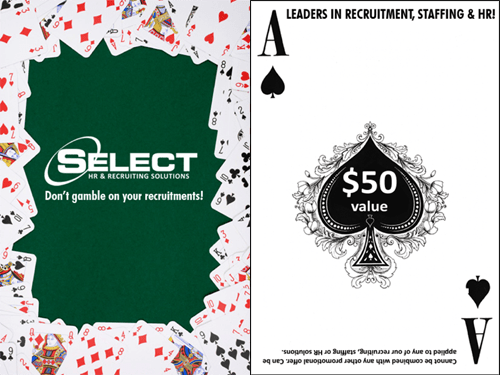 Select Recruiting Event Gambling Card