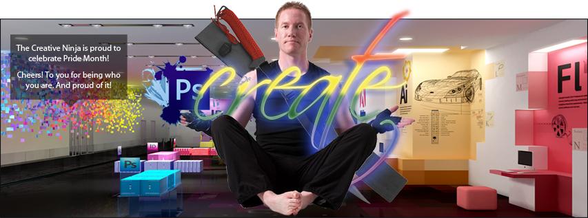 The Creative Ninja Social Media Header - Pride