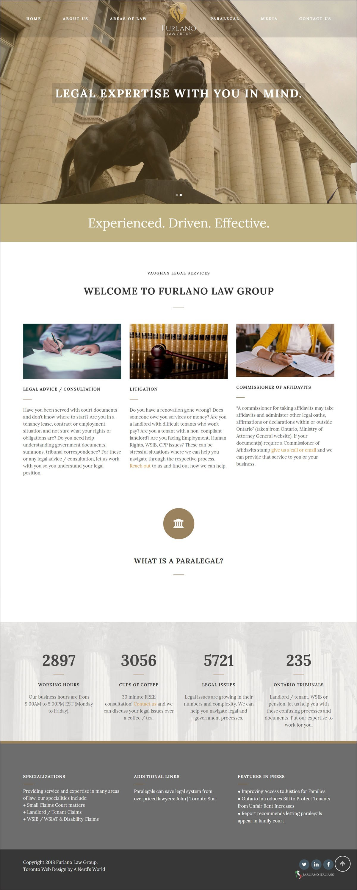 Furlano Law Group Web Development by The Creative Ninja