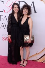 NEW YORK, NY - JUNE 06: Comedians Abbi Jacobson (L) and lana Glazer attend the 2016 CFDA Fashion Awards at the Hammerstein Ballroom on June 6, 2016 in New York City. (Photo by Clint Spaulding/Patrick McMullan via Getty Images)
