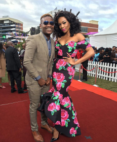 Bonang Matheba and Clement Durban July 2016