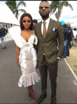 Melody Molale and husband Durban July 2016
