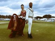Thando Thabethe and Somizi Durban July 2016