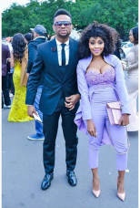 Thembi Seete and boyfriend Bo Durban July 2016