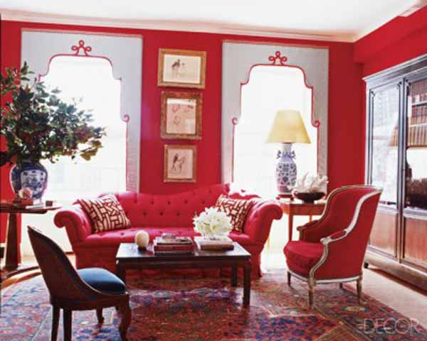 Red-interiors-design
