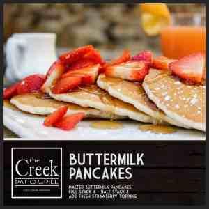 Buttermilk Pancakes - The Creek Patio Grill Sunday Brunch - Cave Creek, Tatum Ranch, Phoenix