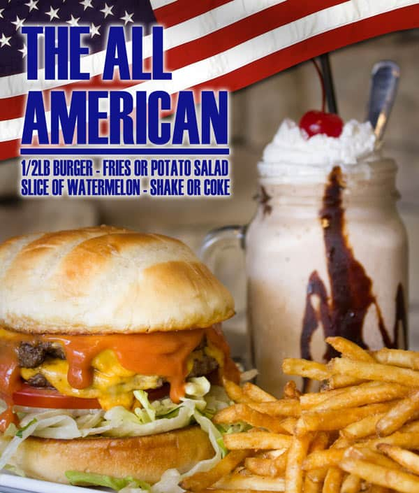 The Creek Patio Grill All American Deal - Fourth of July Cave Creek Phoenix Tatum Ranch