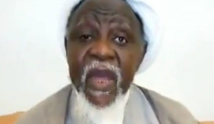 El-Zakzaky in the video (Photo-Punch)
