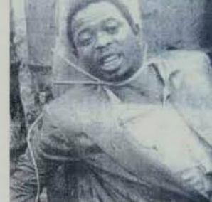 Lawrence Anini shortly before his execution by firing squad