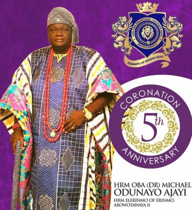 Oba Dr. Michael Ajayi's 5th coronation anniversary