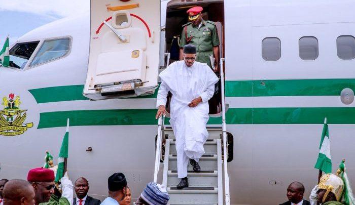 Buhari arrives Abuja