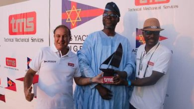 Happy moment from the Lagos Yacht Club Harbour Race