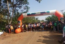Athletes at the starting point at the 2019 Ikogosi marathon
