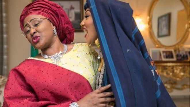 irst Lady, Aisha Buhari, during her daughter's wedding