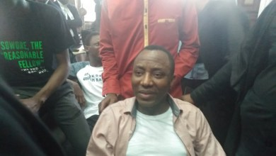Manhandled-Sowore before his was taken away