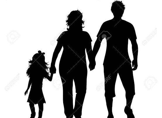 Silhouette of family (Illustration by 123rf.com)