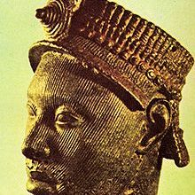 A Yoruba Bronze Head (Symbol of the Yoruba people)