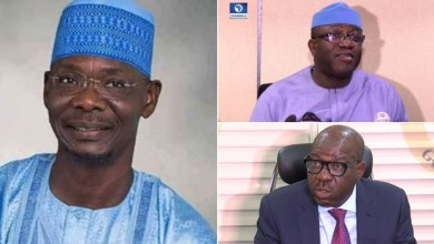 (Clockwise) Govs Sule, Fayemi and Obaseki (Photo credit-Channels TV)