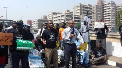 People with disabilities on Public Sensitization March on the Discrimination Against Persons with Disabilities (Prohibition) Bill (Photo credit-Centre for Citizens with Disabilities)