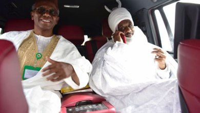el-Rufai and Sanusi onthe way to Abuja (Picture credit-Channels Television)