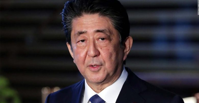 Japanese Prime Minister, Shinzo Abe (Photo by STR/JIJI PRESS/AFP via Getty Images)