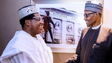 Dr. Dapo Williams and President Buhari at a meeting in London