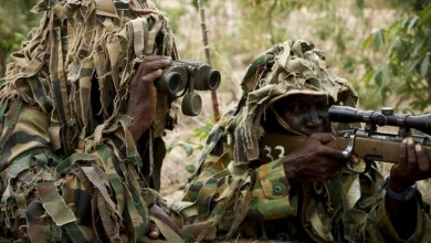NIgerian soldiers at the frontline