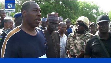 Zulum shortly after July attack (Photo credit: Channels Television)