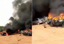 Abuja mayhem: burning cars