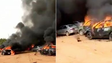 Abuja mayhem: burning cars