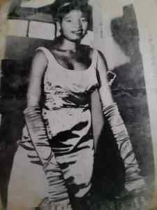 The late Madam Francis as a Beauty Queen