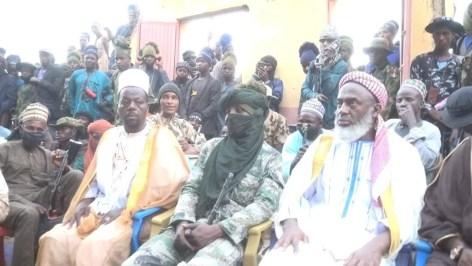 Sheikh Ahmad Gumi during his meeting with bandits in Zamfara