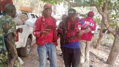 NDLEA operatives at the Edo cannabis village