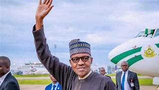 Buhari returning from a trip