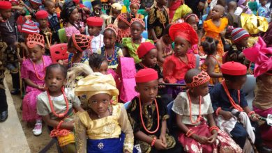 File photo of children of Handmaids International Nursery School Cultural Day in Abuja (Photo credit: The Nation)during