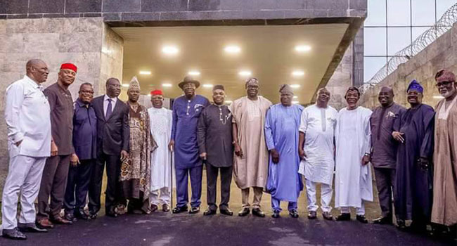 Southern Governors at their meeting in Lagos