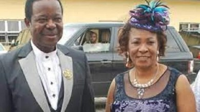 Sunny Ade and wife