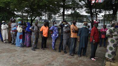 Voters on line (Photo credit-AFP)