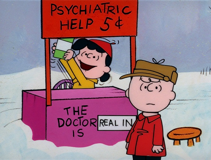An image of Lucy and Charlie Brown from the Peanuts Christmas Special