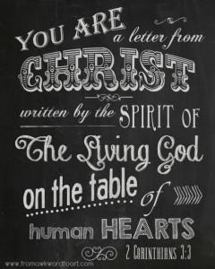 2 Cor 3;3